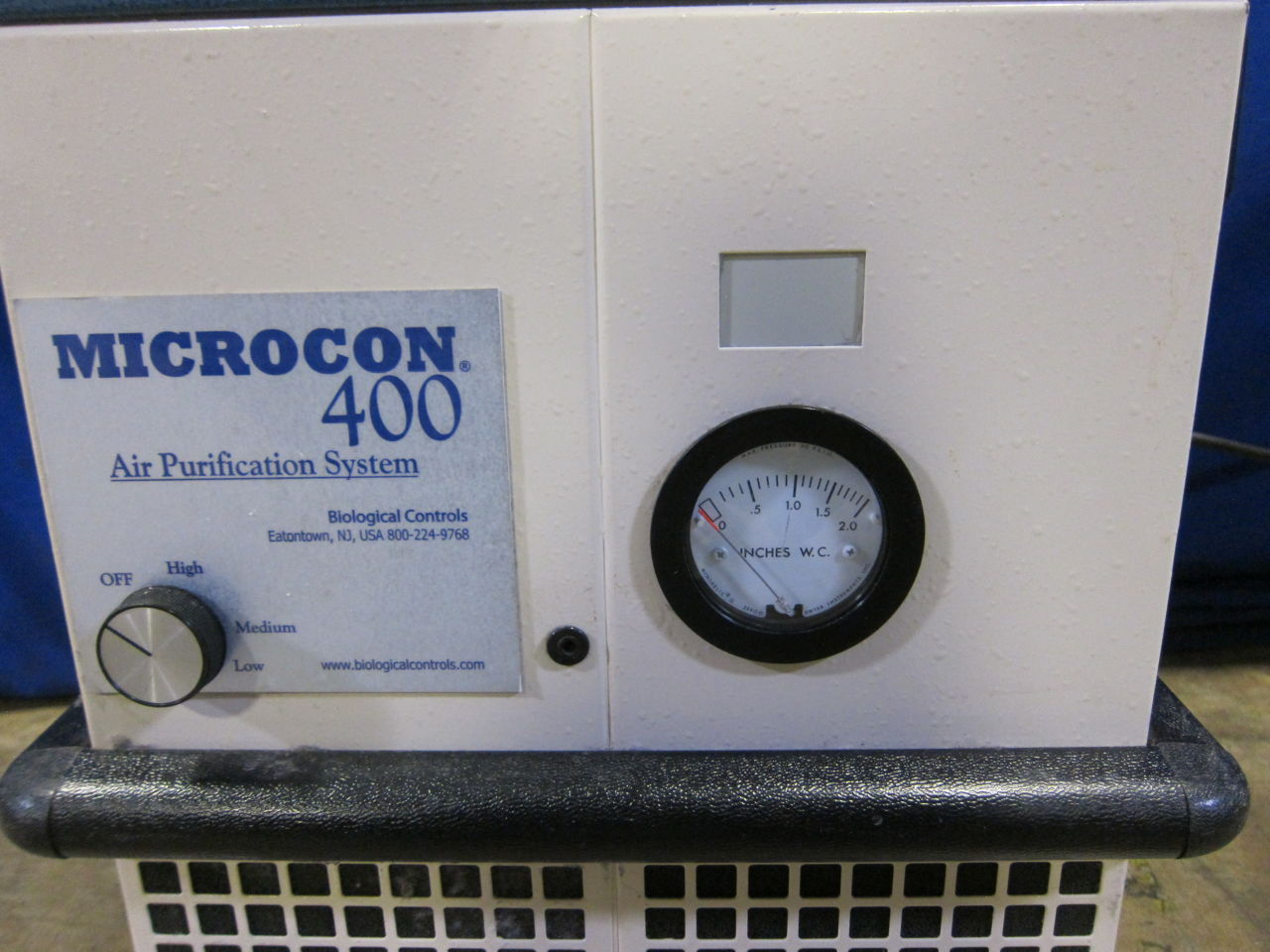 BIOLOGICAL CONTROLS Microcon 400 System