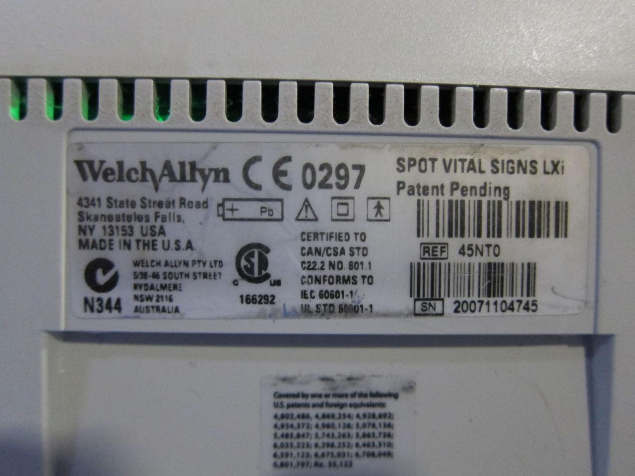WELCH ALLYN Spot Vital Signs LXI Monitor