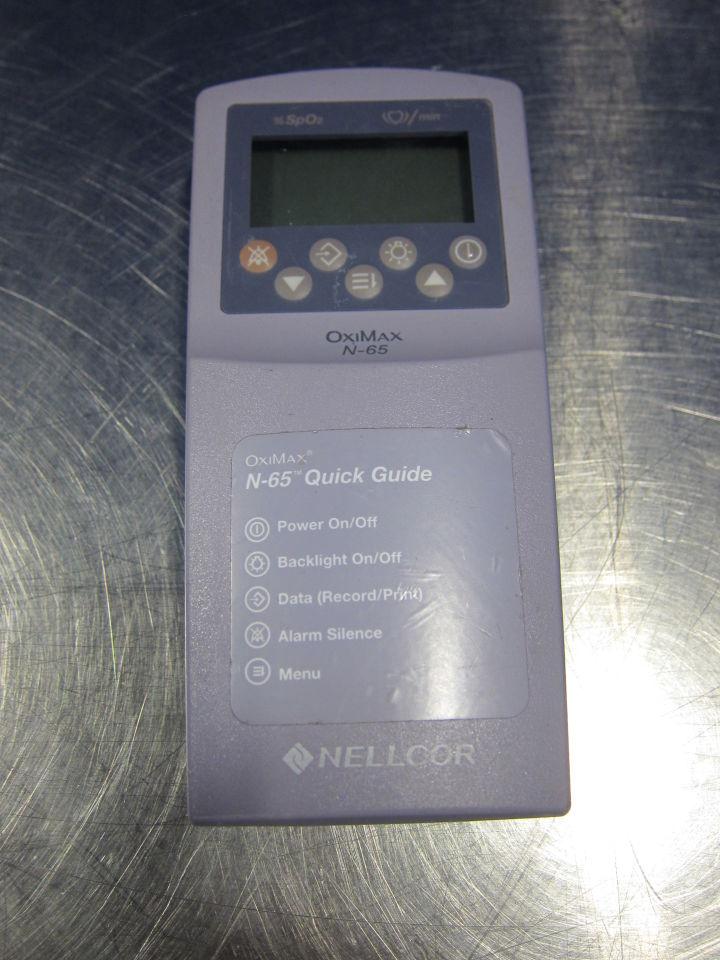 NELLCOR Oximax N-65  - Lot of 2 Oximeter - Pulse