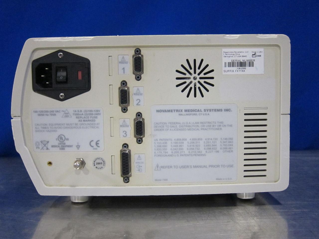 NOVAMETRIX NICO 7300 Anesthesia Monitor