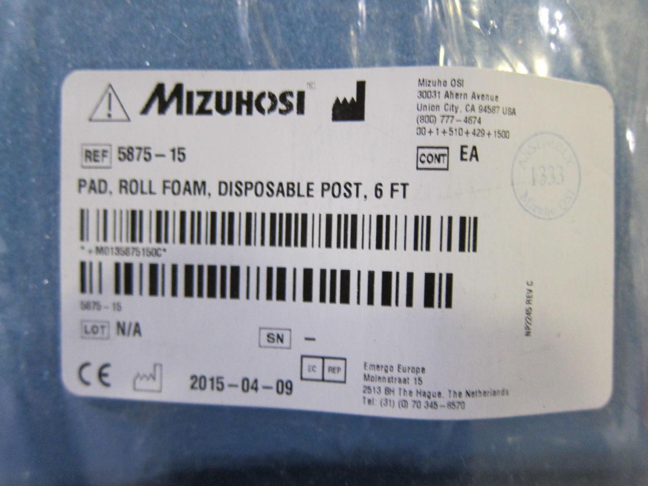 MIZUHO OSI 5875-15 6 Ft Pad
