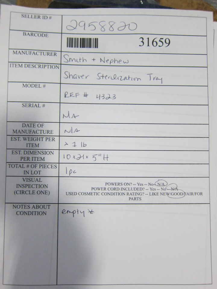 SMITH & NEPHEW 4323 Surgical Cases