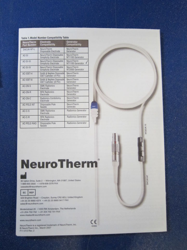 NEUROTHERM DAC-NT Adapter Cables - Lot of 3