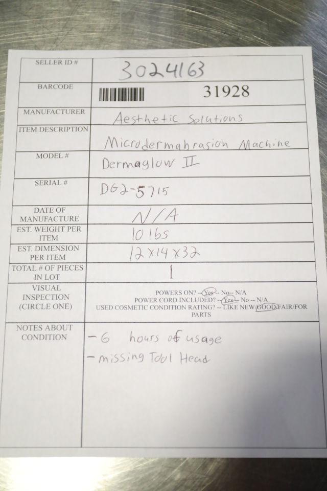 AESTHETIC SOLUTIONS Dermaglow II Microdermabraders