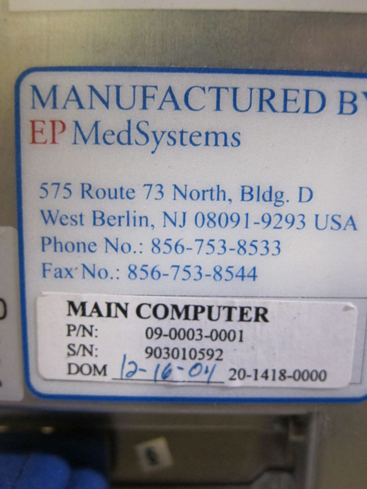 EP MEDICAL SYSTEMS EP Workmate EP Lab/X-Ray Room
