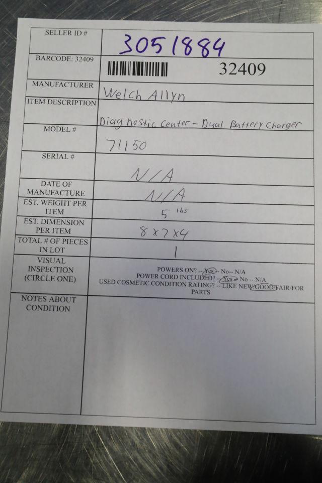WELCH ALLYN 71150 Diagnostic Center