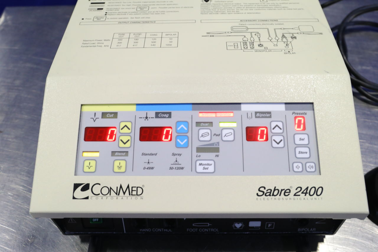 CONMED Sabre 2400 Electrosurgical Unit
