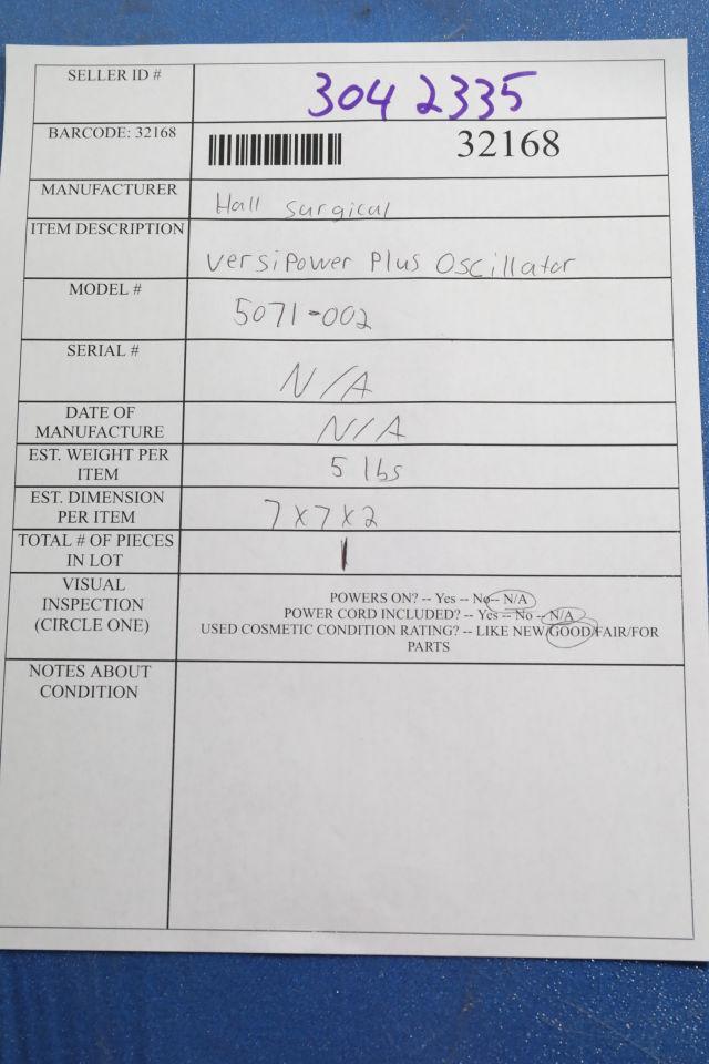 HALL 5071-002 Oscillator