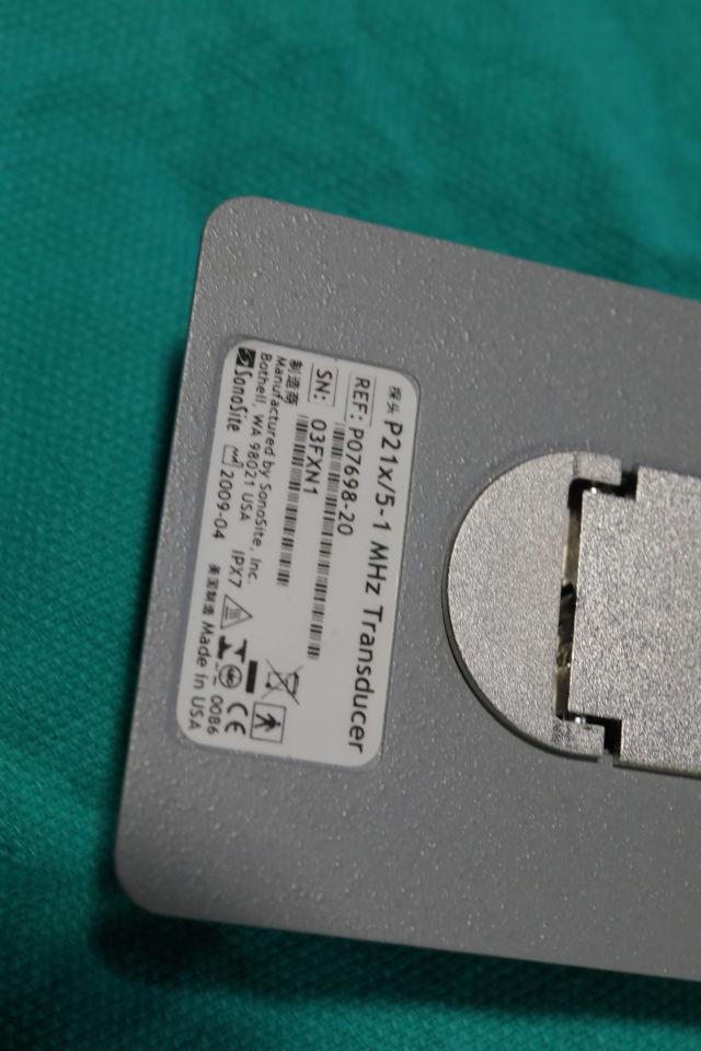 SONOSITE/MICROMAXX P21x/5-1 Ultrasound Transducer