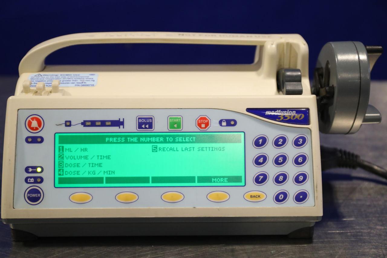 SMITHS MEDICAL Medfusion 3500 Pump IV Infusion