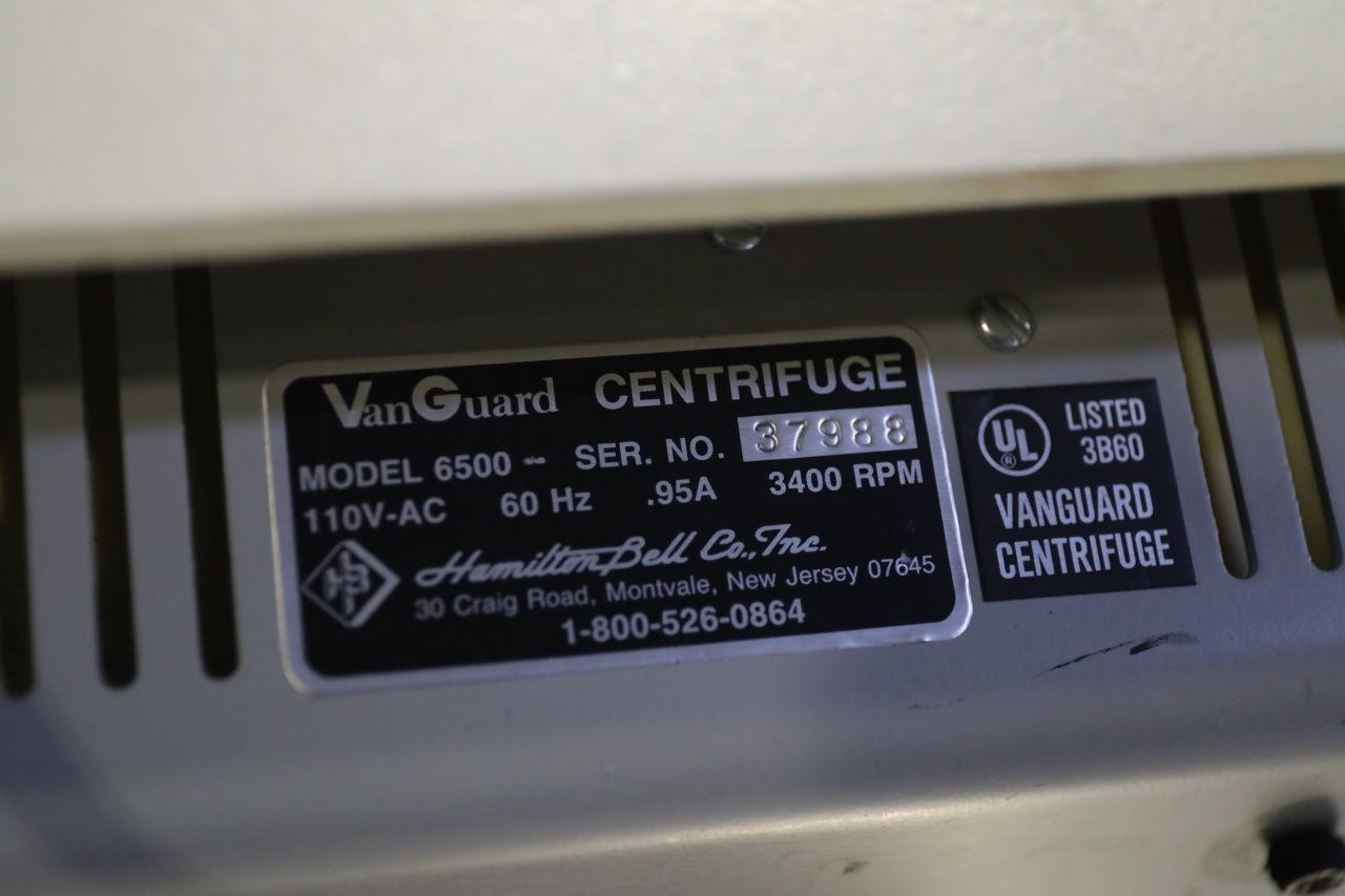 HAMILTON BELL Vanguard V6500 Centrifuge