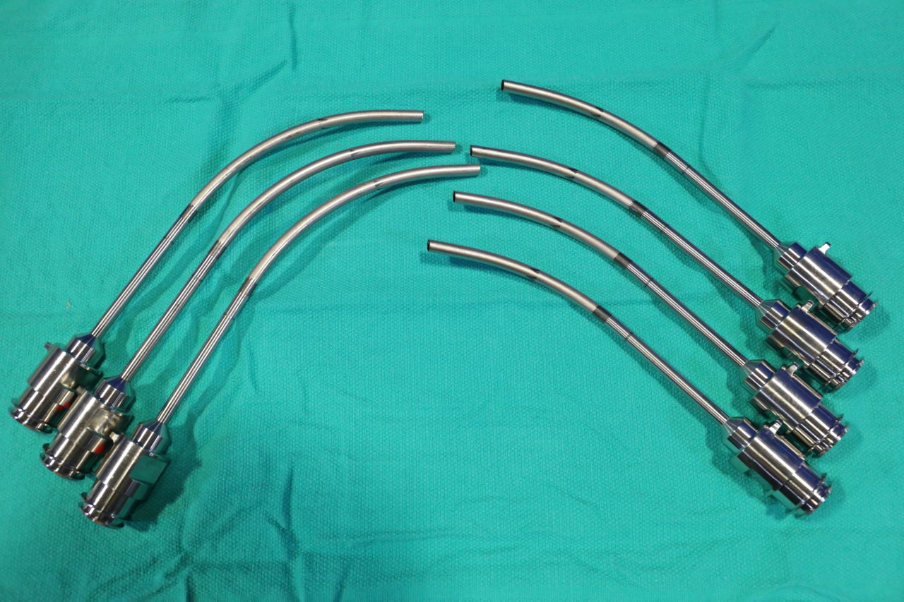 VARIOUS  Curved Arm Cannulas - Lot of 7