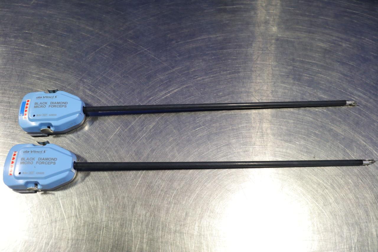 DA VINCI 420033 Black Diamond Micro Forceps - Lot of 2
