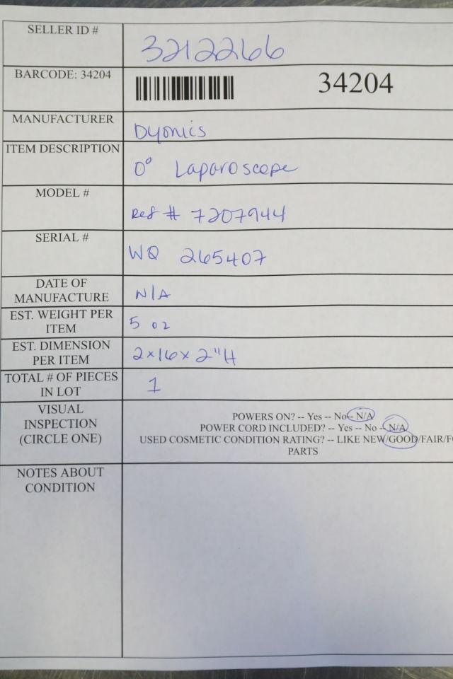 DYONICS 7207944 Laparoscope