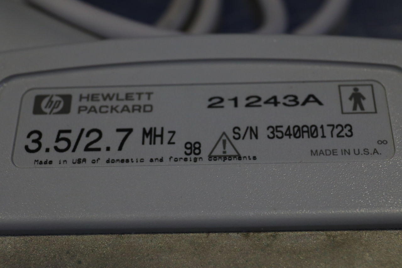 HP 21243A Ultrasound Transducer