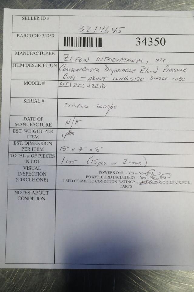 ZEFRON INTERNATIONAL Comfortcheck Blood Pressure Cuff