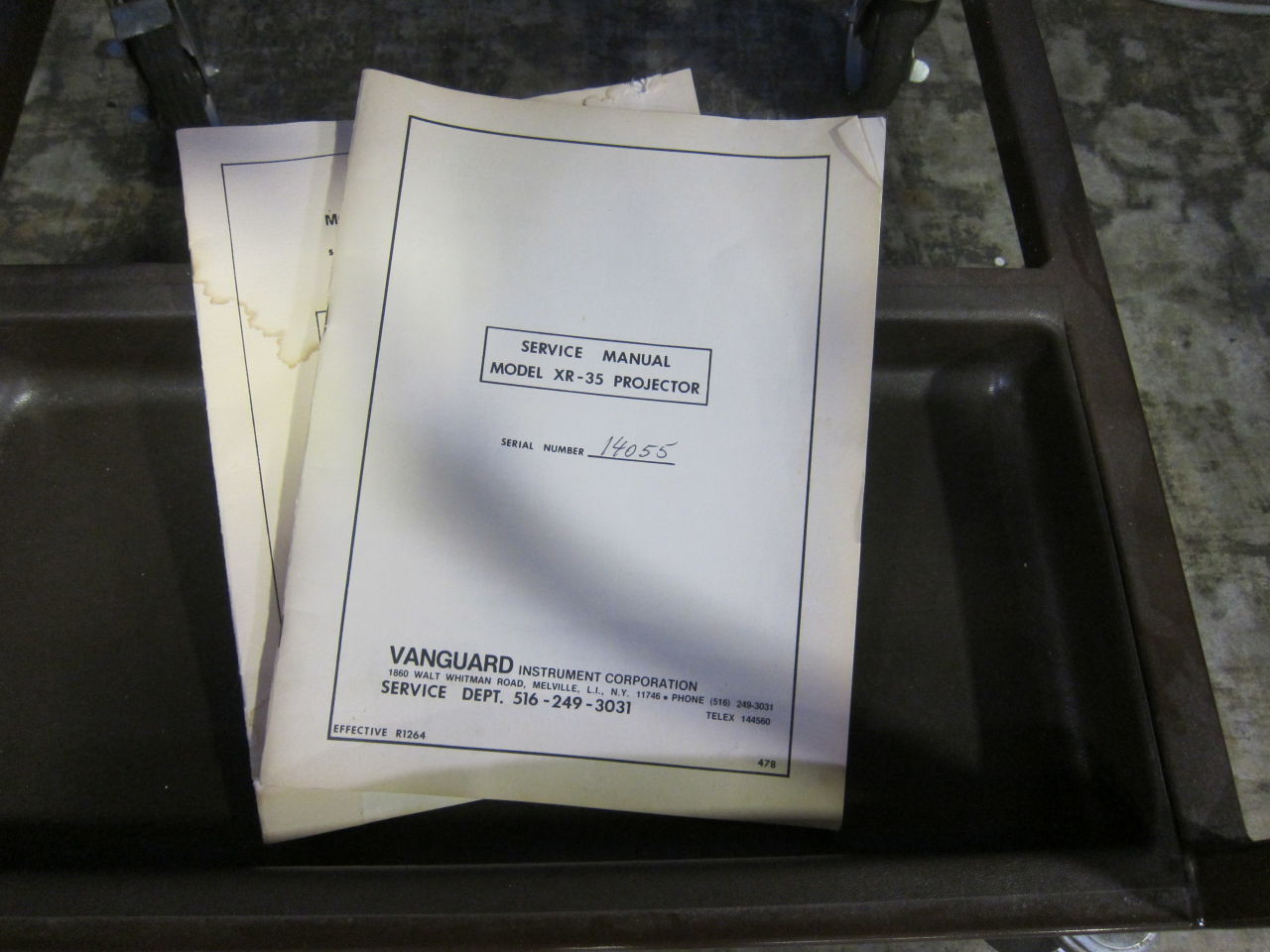VANGUARD INSTRUMENTS CORP  Film Processor