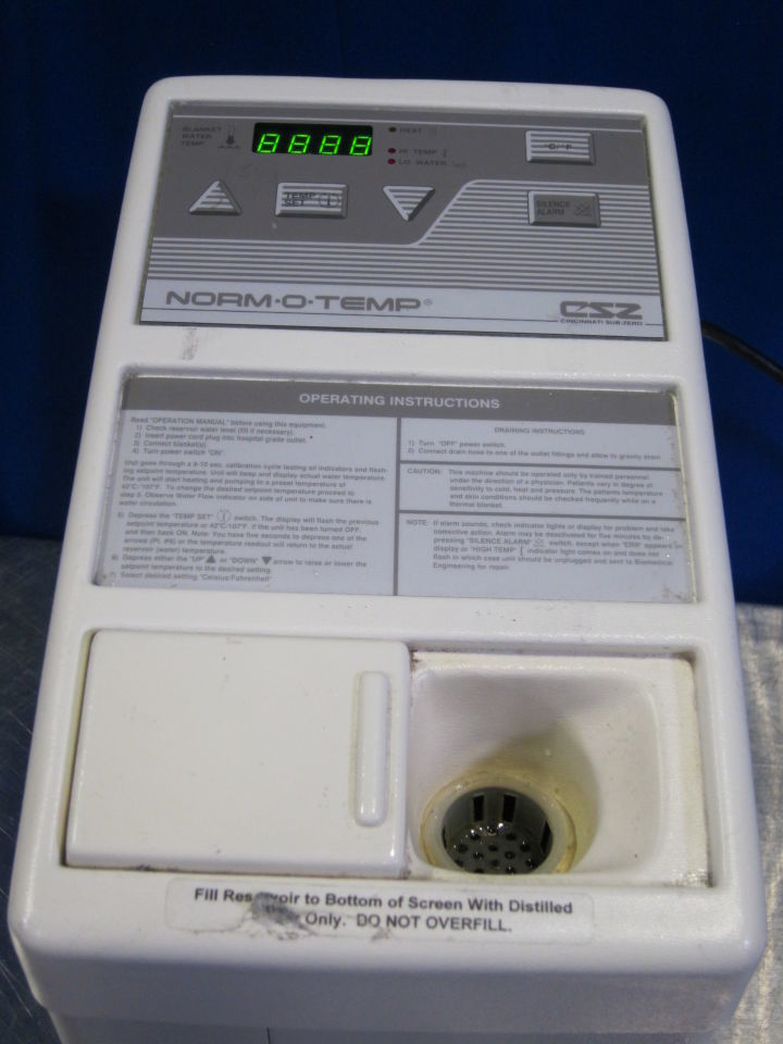 CINCINNATI SUB ZERO Norm-O-Temp Hyperthermia Machine
