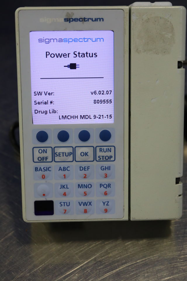 SIGMA SPECTRUM 35700 Pump IV Infusion