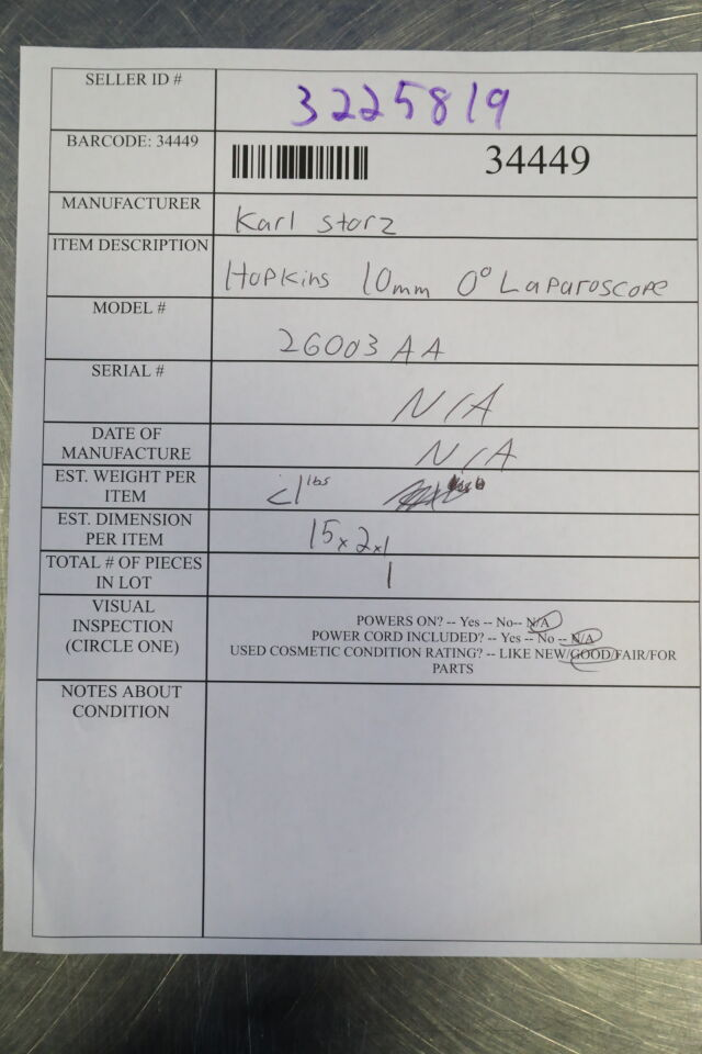 KARL STORZ 26003AA Laparoscope