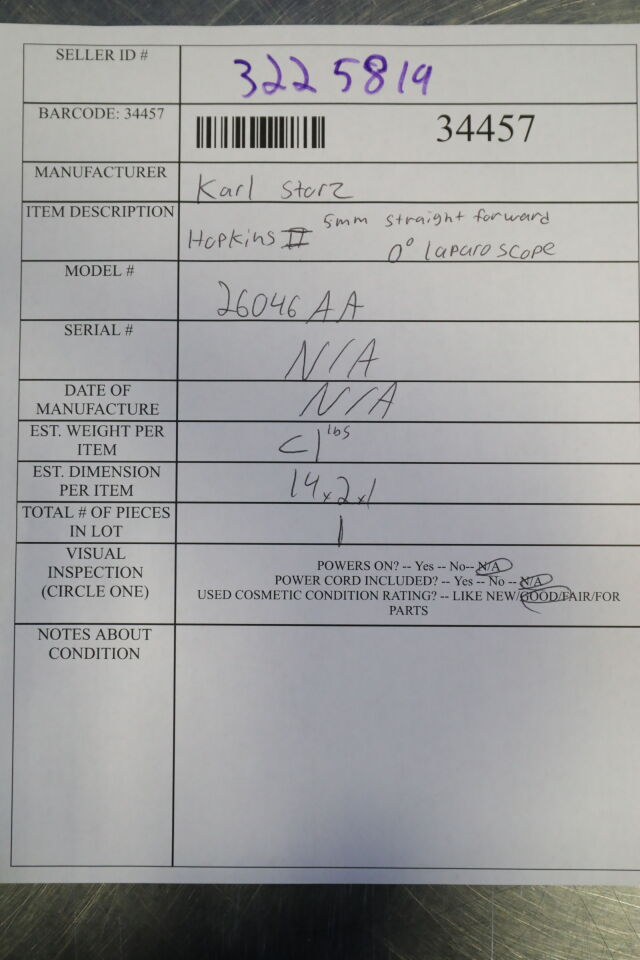KARL STORZ 26046AA Laparoscope