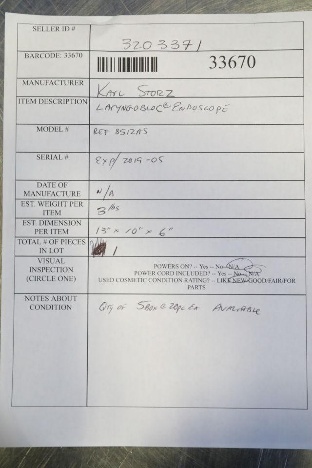 KARL STORZ Laryngobloc 8512AS Laryngoscope