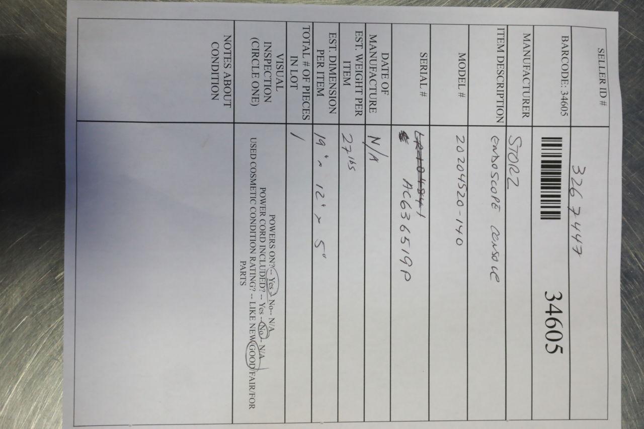 STORZ SCB Aida DVD-M Endoscope Console