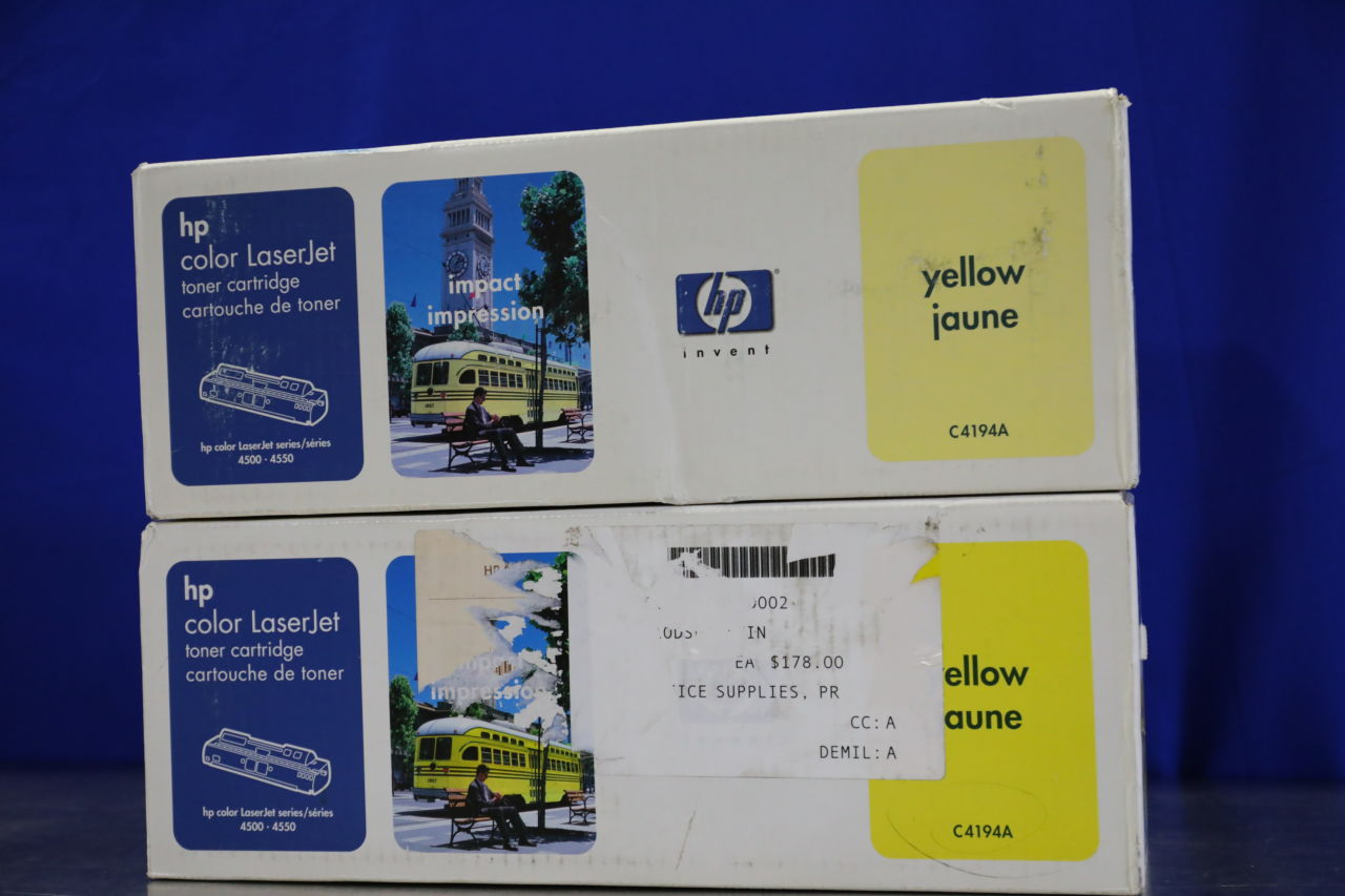 HP C4194A Ink Toner Cartridge - Lot of 2