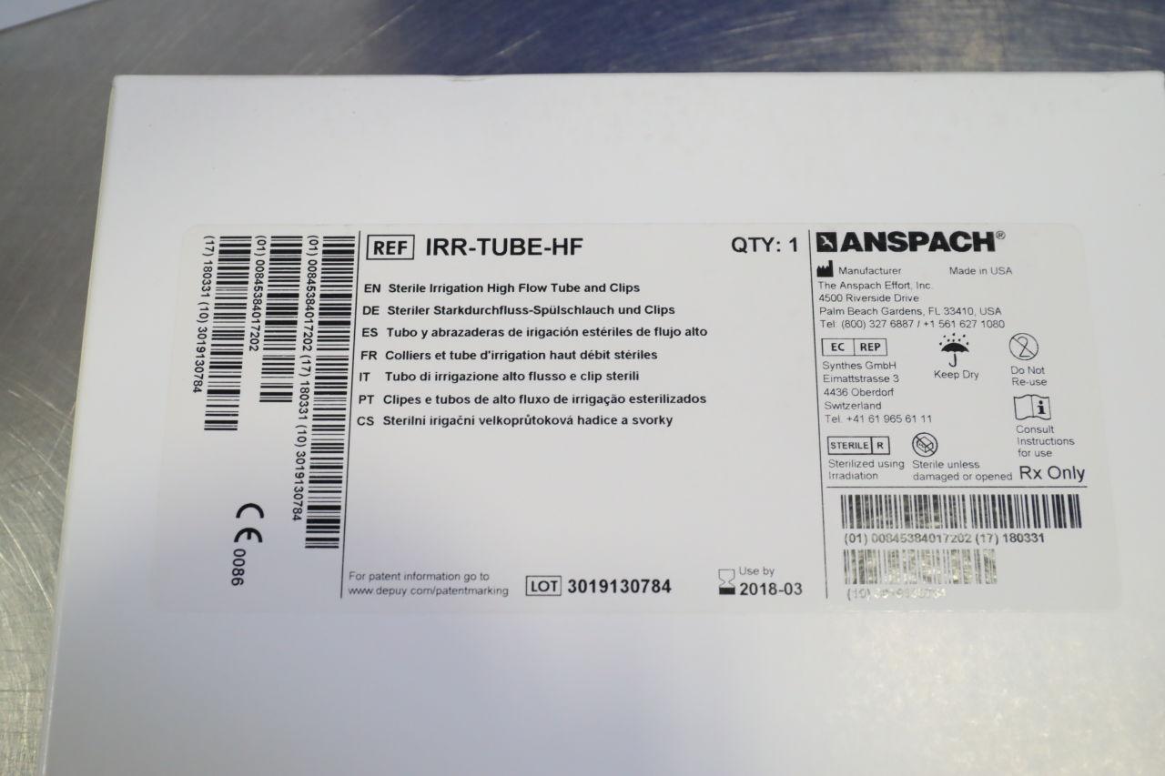 ANSPACH IRR-TUBE-HF En Sterile Irrigation High Flow Tube Clips - Lot of 11