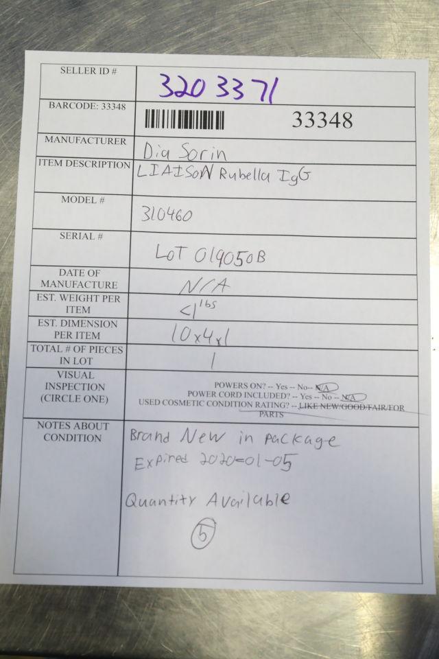 DIASORIN 310460 Liaison Rubella IgG