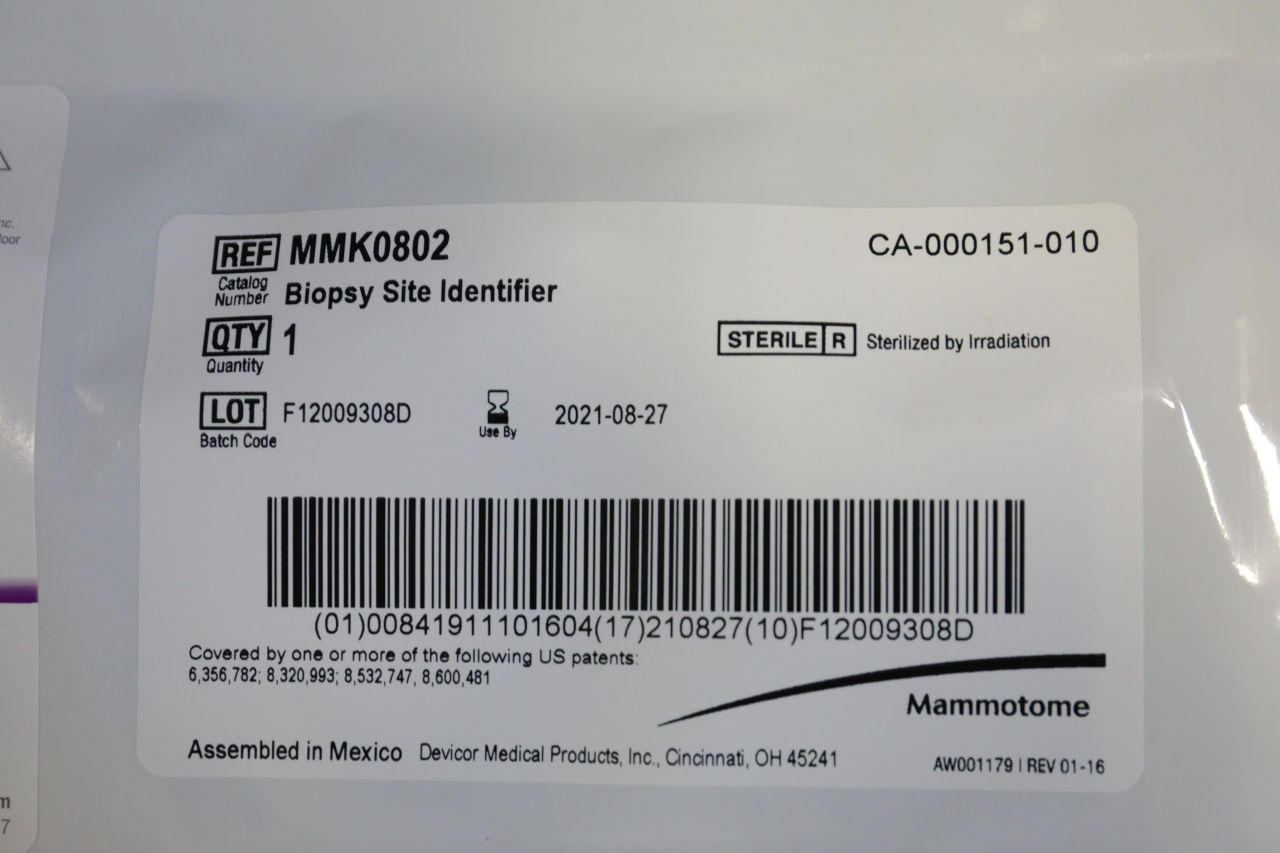 MAMMOTOME DEVICOR MMK0802 Biopsy Site Identifier - Lot of 12