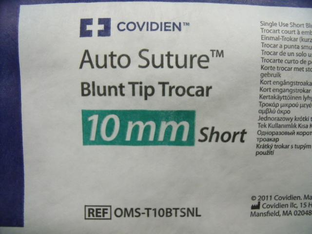 X Auto Suture Blunt Tip - Lot of 5
