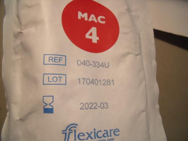 FLEXICARE 040-334U  MAC 4  - Lot of 10 Laryngoscope