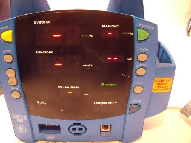 GE DINAMAP DPC420N-EN PROCARE 400 Auscultatory Vital Signs Patient  Monitor