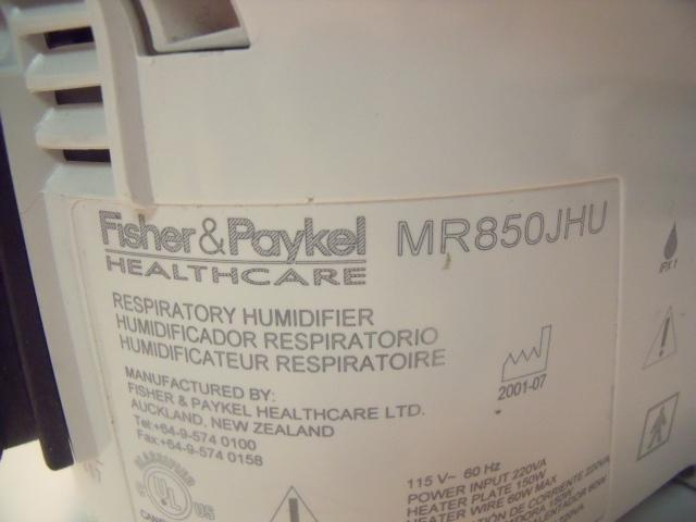 FISHER & PAYKEL MR850JHU Humidifier