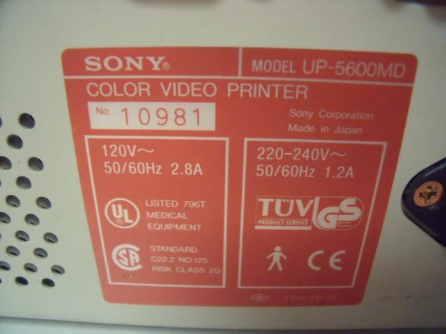 SONY UP-5600MD COLOR VIDEO  Printer