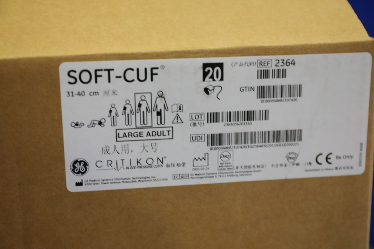 GE Soft-Cuf Adult Blood Pressure Cuffs - Lot of 2