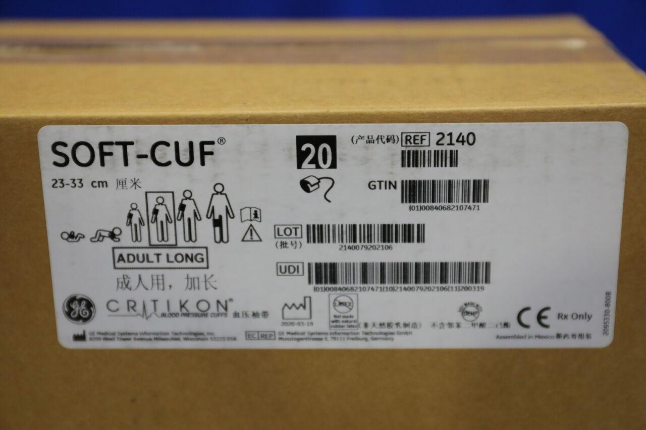 GE Soft-Cuf Adult Blood Pressure Cuffs - Lot of 2