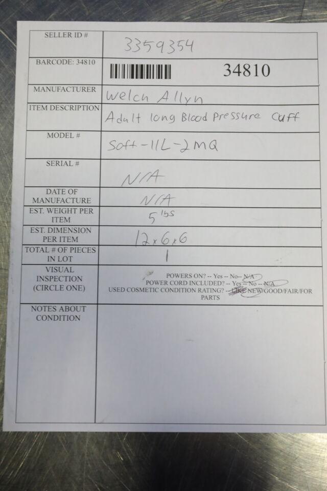 WELCH ALLYN FlexiPort Adult Blood Pressure Cuffs