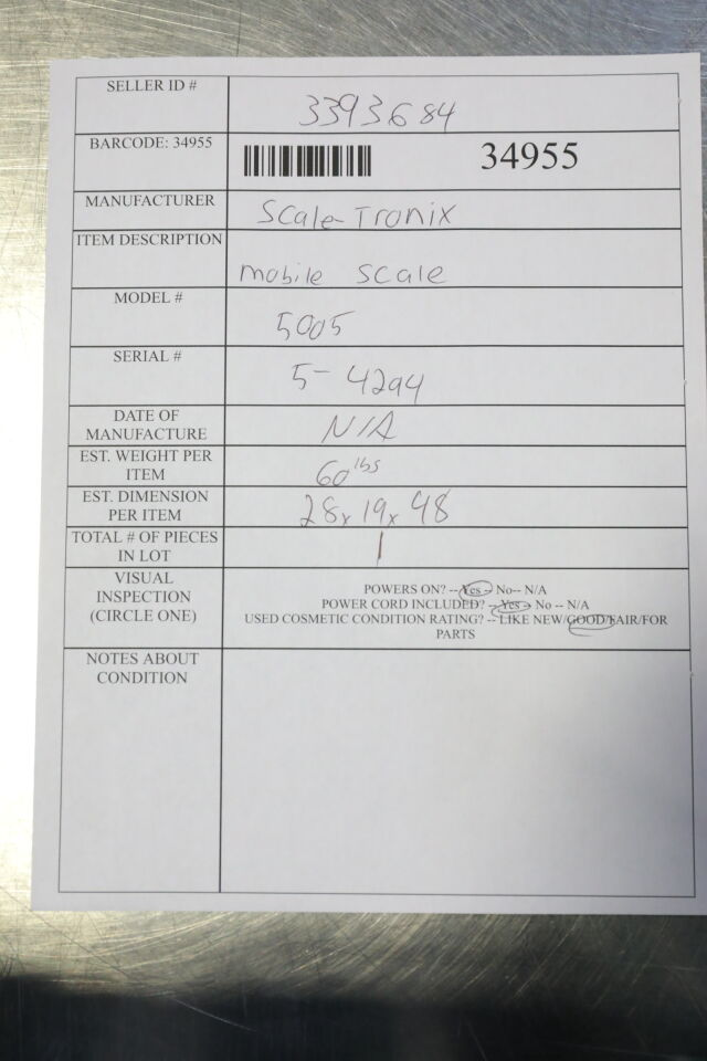 SCALE-TRONIX 5005 Scale