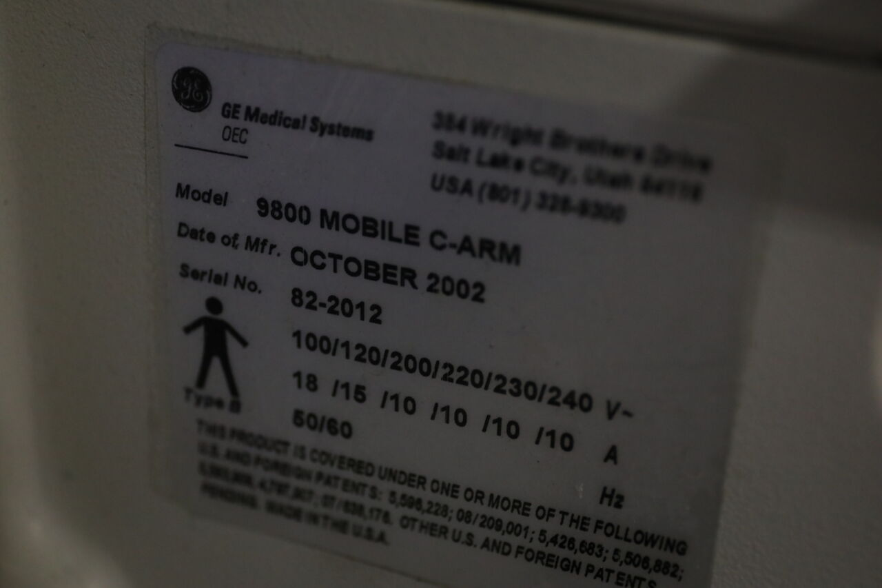 GE OEC 9800 Plus C-Arm