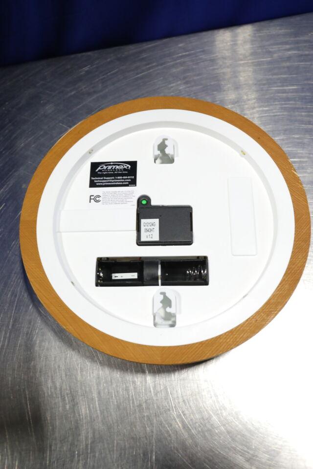 PRIMEX Wood Series Analog Wall Clocks - Lot of 2