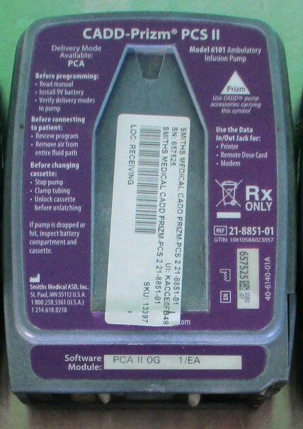 SMITHS MEDICAL CADD PRIZM PCS-2 218851-01  - Lot of 5 Pump IV Infusion