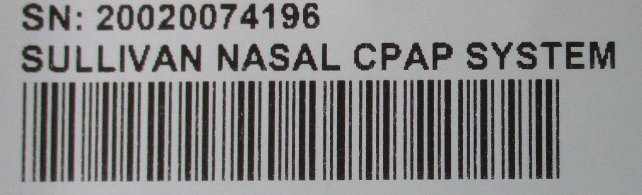 RESMED Sullivan Comfort CPAP