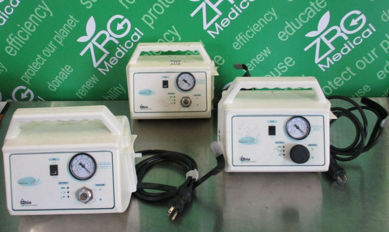 OHIO MEDICAL Aeros CARE-E-VAC 2 753790  - Lot of 3 Vacuum Pump