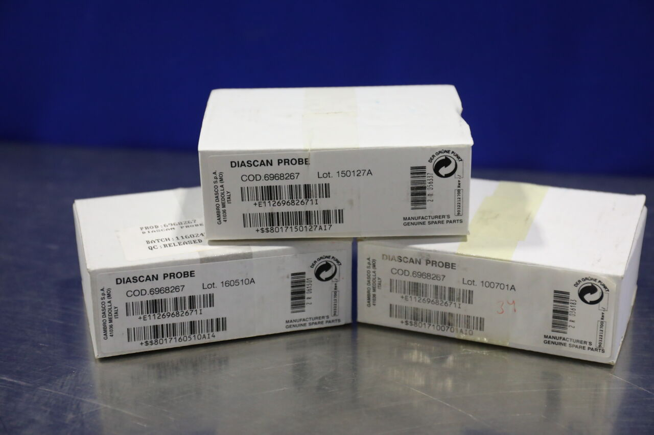 GAMBRO DASCO 6968267 DiaScan Probe - Lot of 3 Dialysis Machine