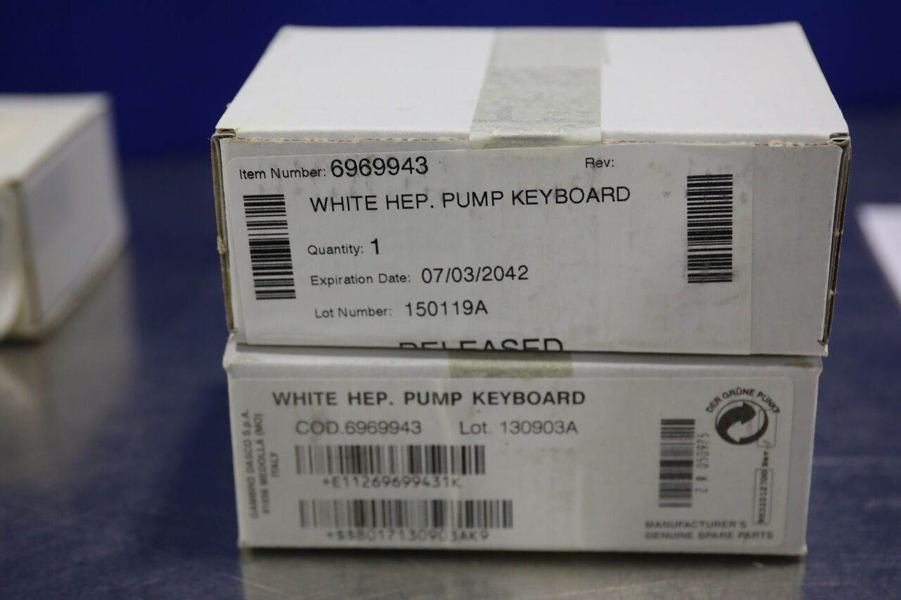 GAMBRO DASCO Various  Keyboard Parts for Dialysis Machine