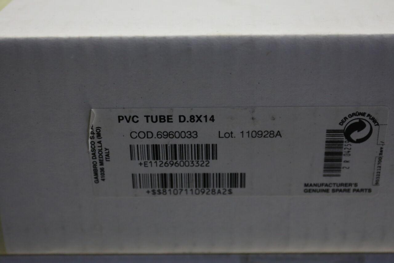 GAMBRO DASCO 6960033 PVC Tubing - Lot of 4 Dialysis Machine