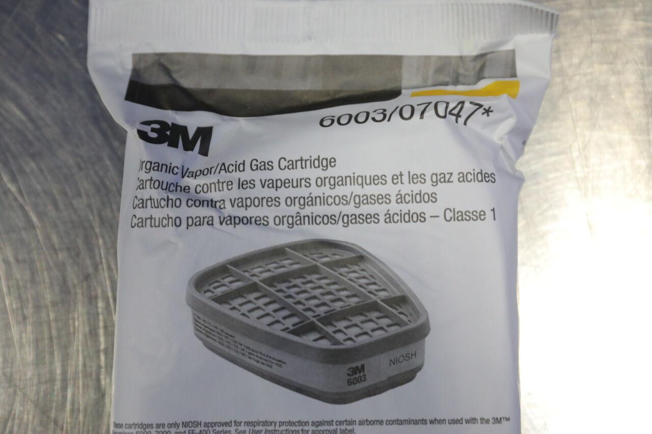 3M 6003/07047 Organic Vapor/Acid Gas Cartridges - Lot of 5