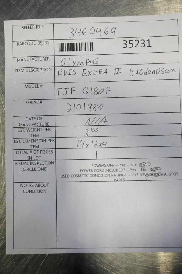 OLYMPUS TJF-Q180F Duodenoscope
